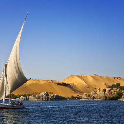Egypt. The Nile at Aswan