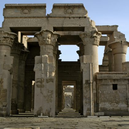 Double temple built during the Ptolemaic and Roman periods dedicated to Sobek the crocodile god and Horus the falcon-headed god.